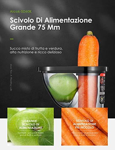 Gemüse & Obst Slow Juicer Aicok Entsafter Bild 5*