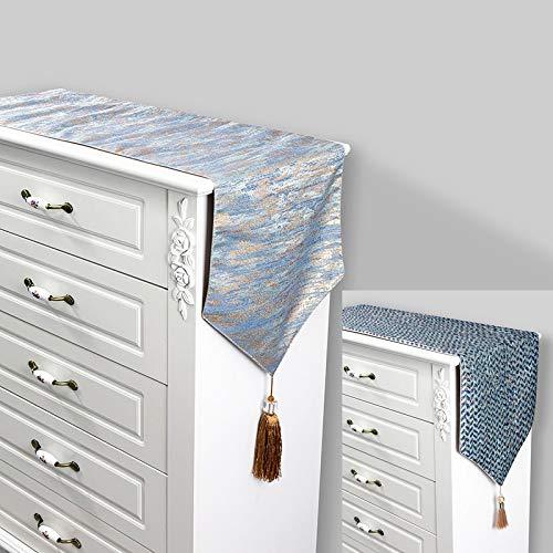 DXNXLLY Decoración hogareña Contratado Elegante clásico Corredor de la Tabla 32X210CM Gris Plata para decoración de Fiesta en casa (Color : Silver A, Size : 32x210cm)