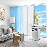 Zhina Türabdichtung für Mobile Klimageräte, Abdichtung mit Reißverschluss für Balkontür um warme Luft zu stoppen, Montage Einfach, 90x210cm