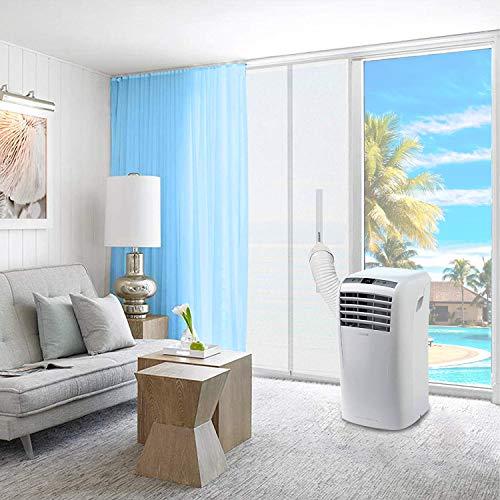 SUPTEMPO Türabdichtung für Mobile Klimageräte, Abdichtung mit Reißverschluss für Balkontür um warme Luft zu stoppen, Montage Einfach, 90x210cm