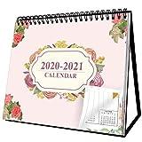 Small Standing Desk Calendar 2020-2021 Desktop Calendar 8' x 6'