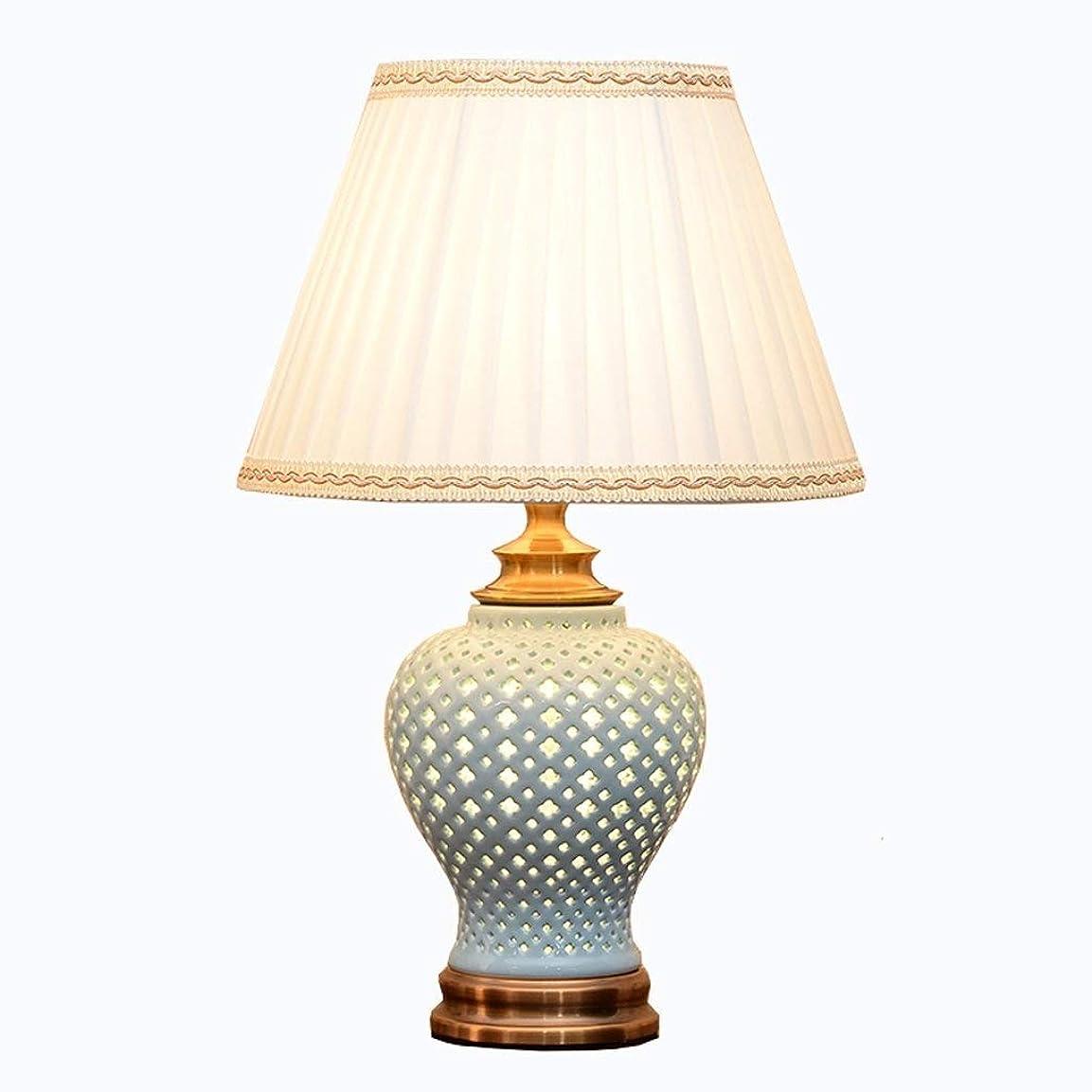 規範場合自伝Lcxghs 調節可能なベッドサイドランプ、モダンなシンプルなセラミックテーブルランプ、コンチネンタルリビングルーム寝室保存ランプ