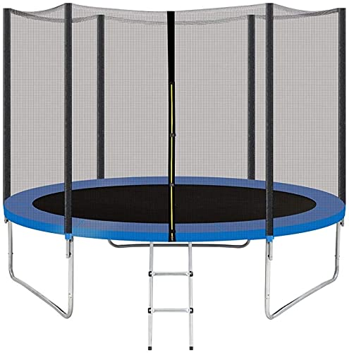 YAKEY Trampoline 10FT 12FT 14FT 15FT Recreational Trampolines with Safety Enclosure Net, ASTM Approved Combo Bounce Outdoor Waterproof Trampoline with Ladder for Kids Family Happy Time