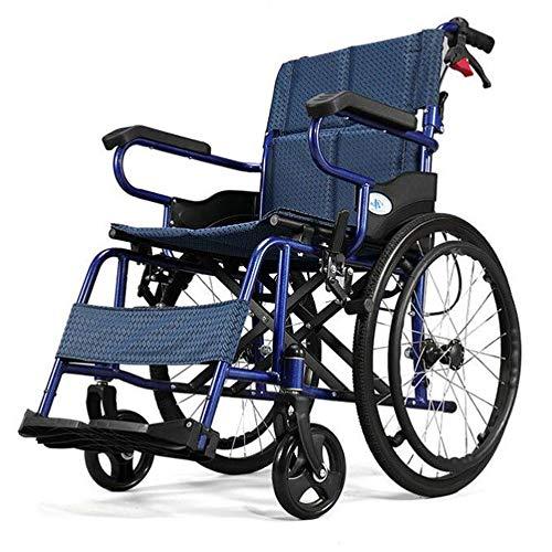 Zusammenklappbar Licht tragbare Reise Rollstuhl Trolley, Carbon Steel Aufblasbarer Reifen mit Bremse Geeignet for Ältere/Behinderte/Kinder Nutzung (Size : B)