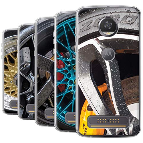 Stuff4 Gel TPU telefoonhoesje/hoes voor Motorola Moto Z4 / pak 20 stks/legering wielen collectie
