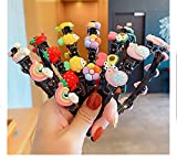 Girl Sweet Princess Hairstyle Hairpin with Strawberries,double Bangs Hairstyle Hairpin Headband Korean Braided Headbands,hollow Woven Headband with Clips (D)