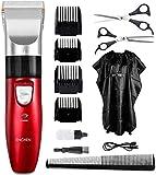 Tagliacapelli elettrici Set forbici per taglio di capelli nere Tagliabordi elettrici professionali per barba ricaricabile da barba