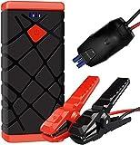 Arrancador de Coches?1500A Arrancador Batería Coche(for All Gasoline or 8.0L Diesel Vehicles) Jump Starter Battery, QC3.0 Quick Charging, LED Flashlight and USB Port
