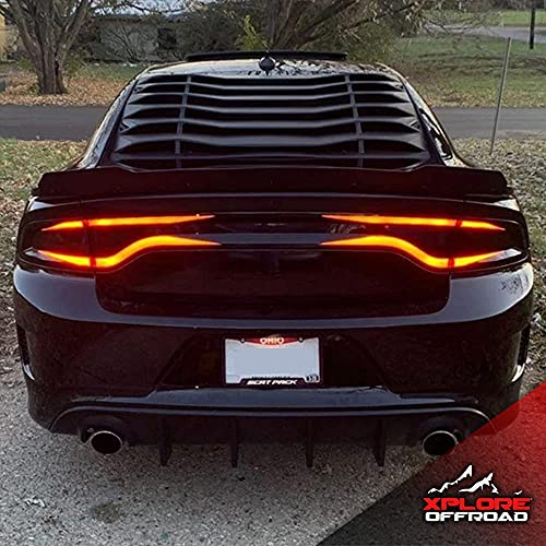 Charger Tail Light Overlay Kit | Precut Vinyl Decals | Fits Dodge Charger 2015-2020 | Gloss Black