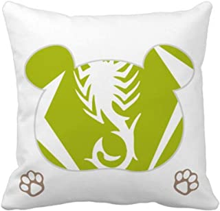 OFFbb-USA - Funda cuadrada para almohada (forma de oso), diseño de escorpión