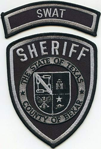 Embroidered Patch - Patches for Women Man - Bexar County Texas TX with Rocker SWAT Sheriff Police