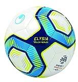 Uhlsport Elysia Replica-Ballons-Taille 3 Adulte Unisexe, Blanc/Metallic Bleu/Jaune, 3
