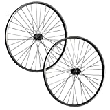 Taylor-Wheels 26 Pollici Set Ruote Bici Büchel Raggi Nirosta Disco 6 Fori Nero