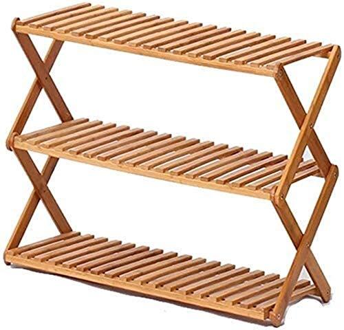 Estante de zapatos Zapato simple rack Familia y Práctica de zapato del zapatero cremallera vertical Caja de almacenamiento de 3 capas en capas de madera de color almacenamiento de madera simple manta