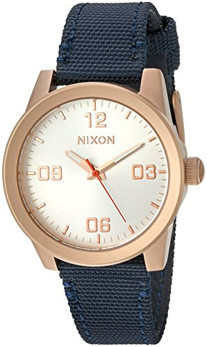 Nixon Women's 'G.I.' Quartz Stainless Steel and Nylon Watch, Color:Blue (Model: A9642160-00)