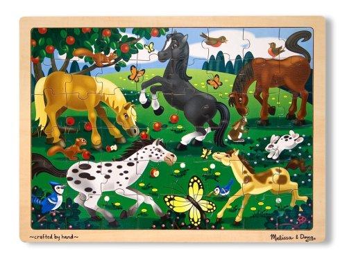 Melissa & Doug  Frolicking Horses Juego Puzzle con 48 Piezas, Multicolor ( 3801)