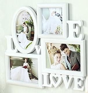 Welim - Marco de fotos de plástico para marco de fotos de boda, marco creativo