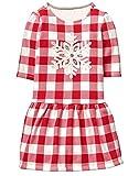 Gymboree Girls' Toddler Ruffle Bottom Printed Dress, Check, 2T