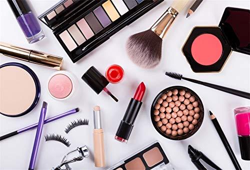 MMPTn 5x3ft Porträt Studio Hintergrund Make-up Kosmetik Palette Nagellack Lidschatten Pinsel...