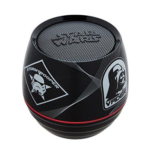 Lexibook Star Wars Rey Poe Finn BB-8 Mini Enceinte Bluetooth enceinte 3W 6 effets lumineux batterie rechargeable rouge/noir BT015SW