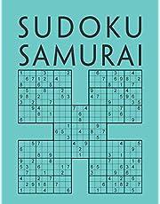Sudoku Samurai: Edición de 200 diferentes Sudokus Samurai para adultos | Juego de lógica | Libro de pasatiempos para adultos | Con soluciones