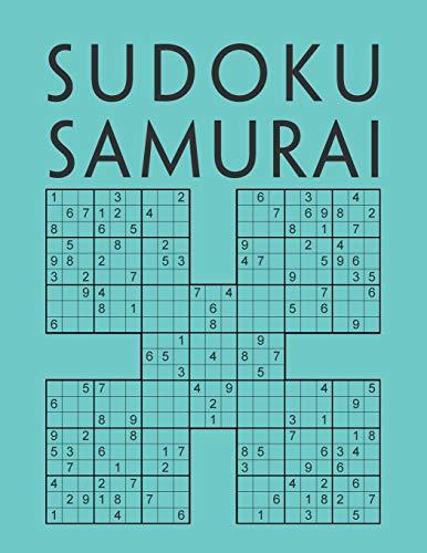 Sudoku Samurai: Edición de 200 diferentes Sudokus Samurai para adultos   Juego de lógica   Libro de pasatiempos para adultos   Con soluciones