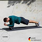 Blackroll  Standard (Härtegrad mittel), schwarz, Selbstmassagerolle + interaktives Booklet - 4
