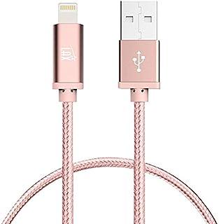 كبل شاحن آيفون لايتنينج - [معتمد من MFI] كبل USB مضفّر ومتين 4 Feet lghtcblmfi4ftros