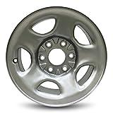 Road Ready Car Wheel for 2002-2007 GMC Sierra 1500 2000-2007 Chevy Silverado 1500 2001-2007 Chevy Suburban 1500 GMC Sierra 1500 2001-2006 Chevy Tahoe Steel 16 inch 5 Lug Silver Steel Rim Fit