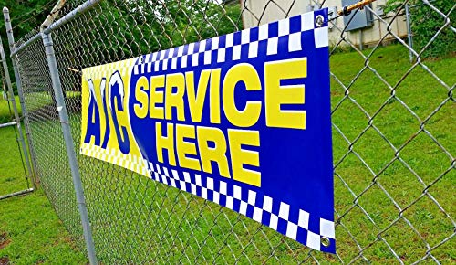 AC Service HERE Banner (6ft X 18 inches) Open Sign Display Auto Repair Shop Mechanic Car Truck Service Photo #6