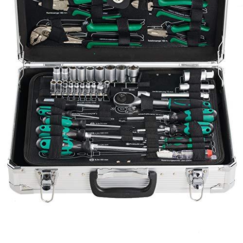 Mannesmann - M29075 - Maletín de herramientas de aluminio, equipado, 108 piezas