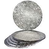 14' Silver Round Drum 1/2', 6 count