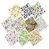 HEALLILY 10 Sets Paquete de Tela Cubierta de Cara Tela Algodón Patchwork Tela de Costura DIY para...