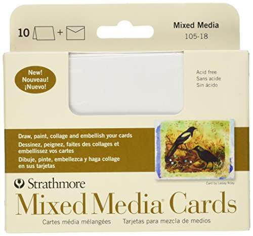 Strathmore 105-18 Mixed Media Cards, Announcement Size, Vellum, 10 Cards & Envelopes