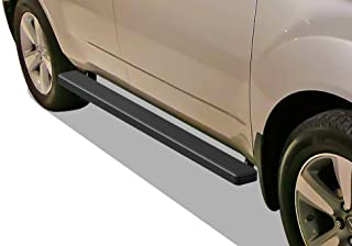 APS iBoard Running Boards 4 inches Matte Black Custom Fit 2007-2010 Acura MDX Sport Utility 4-Door (Nerf Bars Side Steps Side Bars)