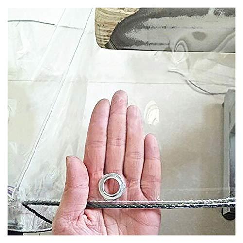 ALGWXQ Lona Transparente con Ojales Fácil De Limpiar Resistencia Al Estiramiento Patio Techo Cochera Paño Impermeable Lona De Partición A Prueba De Polv Viento, 22 Especificaciones