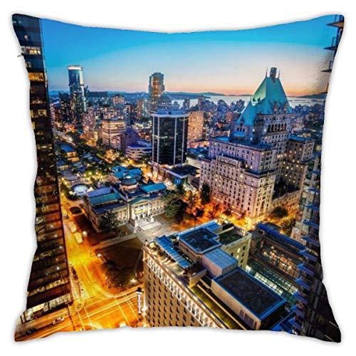 Funda de Almohada de Tiro Ciudades canadienses Cama de impresión Funda de Almohada para sofá Funda de cojín