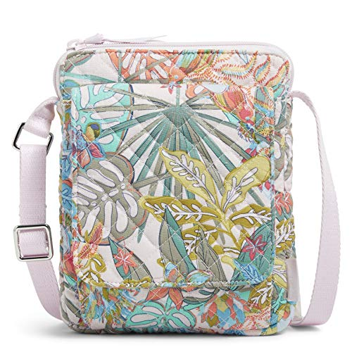 Vera Bradley Mini Hipster Crossbody Purse with RFID Protection, Rain Forest Canopy-Recycled Cotton