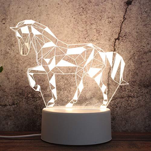 3D Nachtlampje Praktisch cadeau Cadeau Vakantie cadeau Geometrisch paard