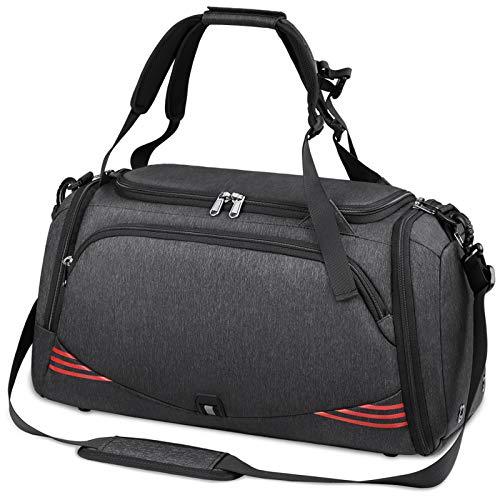 NUBILY Sporttasche für Männer Frauen mit Schuhfach Wasserdicht Reisetasche Weekender Herren Trainingstasche Fitnesstasche Sport Gym Tasche 40 Liter