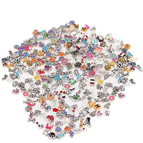 100Pcs/Lot Floating Charms DIY Mix Großhandel Metal für Glas Living Memory (Stil in random)