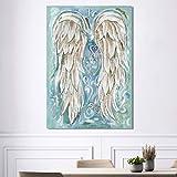 yhyxll Decoración del hogar Carteles e Impresiones de Pared Arte de la Pared Pintura de la Lona Símbolo Musical Abstracto Alas de ángel Imágenes Decoración 30x40cm