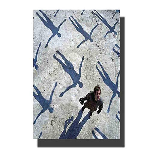 NRRTBWDHL Muse Alben Cover Poster Simulationstheorie Das 2. Gesetz Drohnen Poster drucken Dekoration Raumwand Bild-50x75cm No Frame