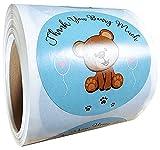 Blue Teddy Bear Stickers 2' Thank You Beary...