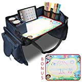 Becko Children's Travel Toy Tray Kids' Car Seat Snack, Game Tray...
