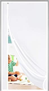 Magnetic Thermal Insulated Door Curtain Fits Door Size 30 x 80, Plastic TPU Magnet Door Covers for Front, Kitchen, Upstair...