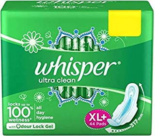 Whisper Ultra Sanitary Pads - 44 Count (Extra Large)