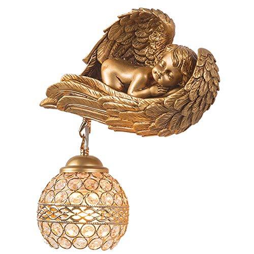 SONG wandlamp, Europese retro wandlamp hars kristal muur lantaarn voor nacht woonkamer slaapkamer gang trap lamp decoratieve wandlamp left
