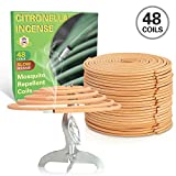 SCENTORINI Spiral Incense Coils Incense 48 Pcs Outdoor Mosquito Repellent Coils Incense Spirals