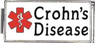 Crohs Disease White Medical Alert Italian Charm Superlink Bracelet Jewelry Link